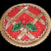Harris, Beautiful Ceramic Cherry Pie Keeper with Lid, Mint