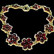 Delightful Vintage Bohemian Garnet Bracelet