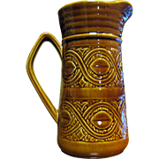 Attractive Brown Glazed Small Pitcher, Saxony Ellgreave, England