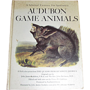 1968 HC Treasury for Sportsmen Audubon Game Animals 82 Color Prints Quadrupeds by John James Audubon