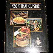 Harris, Keo's Thai Cuisine by Keo Sananikone, (HCDJ)  Hawaii Hawaiian Cookbook Recipes, 1985, 1st Edition, Like New