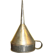 Vintage Tin Funnel for Small Bottle Filling, Pristine