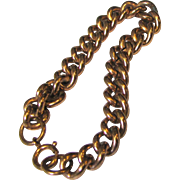 Heavy Solid Copper Chain Bracelet, 26 Grams