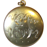 Vintage Engraved Gold Filled Locket