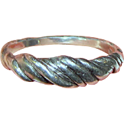 Sterling Hand Made Twist Ring, Size 8, 3 Grams