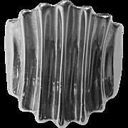 Sleek Sterling Silver Size 6 Modernist Ring, 6 Grams