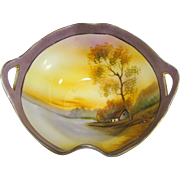 Noritake Small Landscape Dish w/ Handles, 1918, Beautiful
