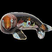 Adorable Handmade Enamel Cloisonne Seal Figurine