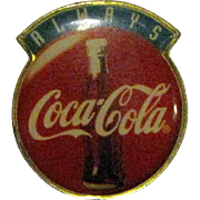 Vintage Coca Cola Always Enamel Collar / Hat Pin, Coke Ad Campaign