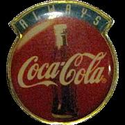 Vintage Coca Cola Always Enamel Collar / Hat Pin, Coke Ad Campaign