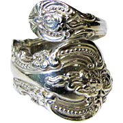 Sterling Spoon Ring,Towle El Grandee, Size 6, 8 1/2 Grams