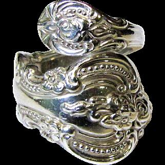 Sterling Spoon Ring,Towle El Grandee, Size 6, 8 1/2 Grams