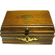 Small Hardwood Trinket or Stud Box, Elegant Details