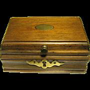 Small Hardwood Trinket or Stud Box, Elegant Details