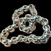 Vintage 999 Fine Silver Designer Cable Link Bracelet, 24 grams