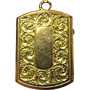 Victorian Rolled Gold Engraved Photo Locket