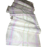 """120"""" by 14"""" Uncut Section of Woven Edge Pure Linen"""