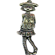 Mexican Sterling Pin of Madeline or Eloise, 5 1/2 grams