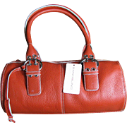 Mint w/ Tags 1990's Bandolino Red Leather Purse