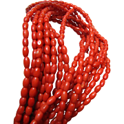 Jay King DTR 10 Strand Red Coral & Sterling Necklace, 108 Grams