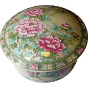 Lovely Lefton Floral Porcelain Trinket Box with Lid