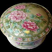 Lovely Lefton Floral Porcelain Trinket Box with Lid