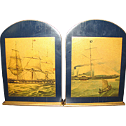 Art Deco Sailing Ship Bookends by Lady Clare of England