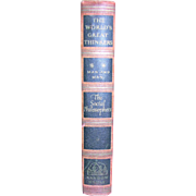 1947 The World's Greatest Thinkers, Man and Man by The Social Philosophers, HC, Random House