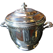 Quality Porcelain Lined Silver Plated Ice Bucket, Bristol Silver Co.