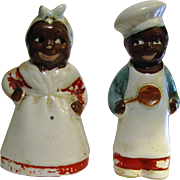 1940's Mammy & Moses Salt & Pepper Shakers, Rare Black Americana