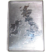 "Vintage Ralph Lauren ""Polo"" Cigarette Case with Map of Great Britain (UK) & Ireland on Lid"