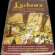 Luchow's German Cookbook by Jan Mitchell, NYC Restaurant Recipes, illus. Ludwig Bemelmans HCDJ 1952