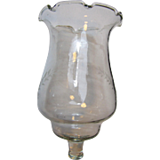 "Large 6"" Blown Glass Engraved Peg Light (up to 6 available)"