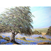 Small Texas Bluebonnet Landscape by D.I. Fodge