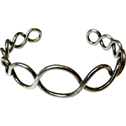Artisan Sterling Twisted Loop Cuff Bracelet, Larger Size, 20 grams