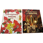 Christmas with Southern Living ~ Do It Yourself Crafts and Cookbooks 1989 & 1991, HC, Like New