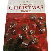 Treasury of Christmas Recipes by Jean Steiner, Taste of Home Books, HC, Like New