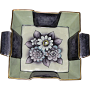 Noritake Morimura Art Deco Hand Painted Bowl w/ Handles, circa 1910 to 1921, Mint