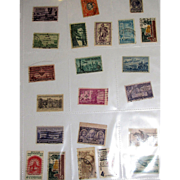 22 Different Used Postage Stamps - Mostly USA Mid-Century!