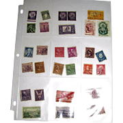 29 Different Used Postage Stamps - Mostly USA Mid-Century!