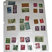 31 Different Used Postage Stamps - Mostly USA Mid-Century!