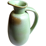 Vintage Frankoma Pottery Jug # 835, Brown & Prairie Green