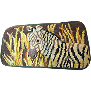 Needlepoint Spectacle Case, Zebra Design