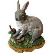 Vintage Bisque Porcelain Rabbit Figurine