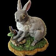 Vintage Bisque Porcelain Rabbit Figurine