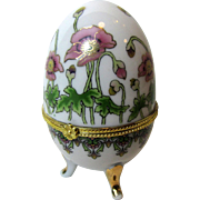 Art Nouveau Style Porcelain Egg Trinket Box