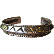 Navajo Anthony Kee Sterling Cuff Bracelet, 32 grams