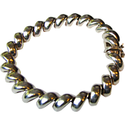 Elegant Italian Sterling San Marco Bracelet, 20 grams