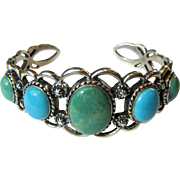 Carolyn Pollack Relios Turquoise Cuff Bracelet, 45 Grams