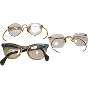 Collection of 3 Pairs of Vintage Spectacles, Great as Props!